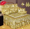 24pcs Satin Embroidery Bedspread Set