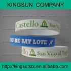 button silicone wristband