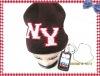 Warm Headphone Knit Hat