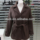 2013 Ladies Long Wool Coats with Big Collars