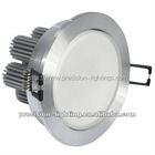 7W Ceiling led light with pillar radiator+milky case