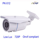 outdoor 720P low lux wired IP network camera cctv Onvif compliant
