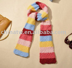 da0532 keep warm lovely hot design rainbow color women knit shawl