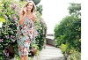 Hot sale flower pattern jumpersuit