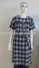 ladies gown; 100% cotton; fashion dress