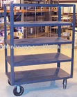 Flat warehouse trolley and cart