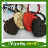 GOOD WOOD NYC Hip Hop Heart Shape Wooden Necklace with Pendant