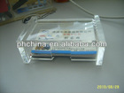 LY-1503 Tranparent name card stand clear acrylic name card rack Acrylic name card display