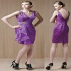 Dazzle Sleeveless Ruched V-neck Ruffled Patterns For Bridesmaid Dresses