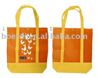 Rpet orange shopping bag non-woven bag