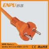 power supply cord with right angle plug
