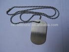 Cheap custom blank stainless steel dog tag on chain for people