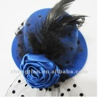 minihat-01 MOQ50PC Blue MOQ50pcs Mini Top Hats ,Bespoke feather fascinators, mini top hats, wedding headpieces