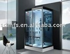 2011 newest shower steam room SFS-8871 6mm tempered blue colour with acrylic base