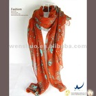 New Style Magic Skull Scarf In Orange