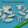 Sterling Silver Plated Glue on Earring Bails for Small Glass Tiles or Scrabble Tiles