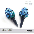 Blue Cell Phone Dust Plug with Strawberry