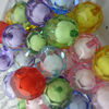 Chunky mix colors jewelry acrylic beads in beads!Discount price loose round shape acrylic faceted jewelry beads!