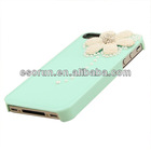 Hot selling Top quality Crystal Rhinestone Flower cover Case diamond For iPhone 5/4S for new year promotion