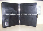 business a4 leather folder with calculator