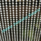 Vertical Pure White Color Metal Bead Chain Curtain