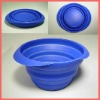 Collapsible silicone pet bowl with Clear style
