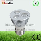2012 aluminum E27 LED cup light 3*1w cool price hotsale light