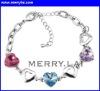 new stainless steel gemstone charm bracelet jewelry ( ML-12-YL-1112-4)