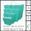 basket white kraft shopping/gift bag