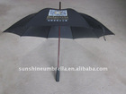 23'' manual open wooden shaft double ribs hotel umbrella