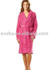 LADIES' BATHROBE RED BATHROBE COTTON BATHROBE (EV42517)
