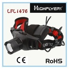 black and red Aluminium LED head lamp head light LFL1476
