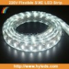 White Color 220V High Voltage Flexible SMD LED Tape Light