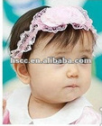 2012 Fashion Lace Flower Small Elastic Hair Bands For Baby Girl