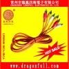 orange RCA AV cable silver pin