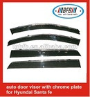 car window deflectors PMMA for Hyundai Sante fe