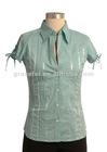 Spandex/cotton blouse for ladies