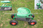 green garden cart with wheels