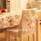 100% cotton printed dining chair cover for home use