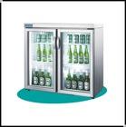 KILLER DEAL table top glass door refrigerator freezer