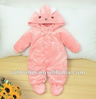 Infant clothes rompers baby girls winter clothes with hood 2012