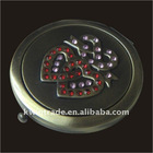 Double-sides metal compact mirror,small decorative mirror cabinet