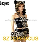 Popular Carnival Costume for Women Animal Dress Leopard