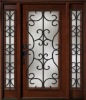 Wrought Iron Entry Door Designs For House DJ-S9000WST-15