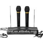 New Pro Dual Wireless Karaoke DJ PA Mic Microphone System Disco DJ Equipment