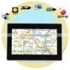 Black 5 Inch Portable TFT Touch Screen GPS Navigator