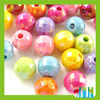 beautiful AB-plated mixed color acrylic round beads