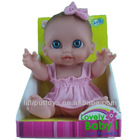 9 Inch Lovely Real Blue Eyes Baby Doll for Kids