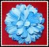 blue chiffon handmade shoe flower