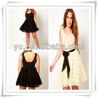 2013 Summer Latest Ladies Party Dress With Rose Skater Skirt,Ladies Dress